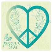 Love peace symbol — Stock Vector