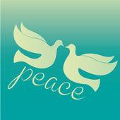 Uccelli di pace — Vettoriale Stock