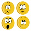 Stock Vector: Yellow faces