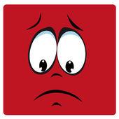 Sad face — Stock Vector