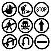 Black traffic signals — Stock Vector