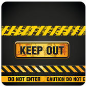 Keep out — Stock Vector