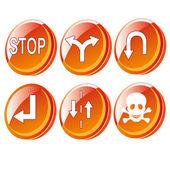 Orange signals — Stock Vector