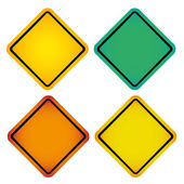 Colored signals — Stock Vector