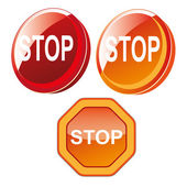 Stop signals — Stock Vector