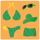 Green lingerie — Stock Vector