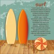 Stock Vector: Surf