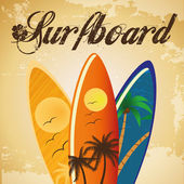 Surfboard — Vector de stock
