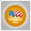 Stock Vector: President day