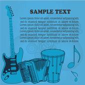 музыка — Cтоковый вектор