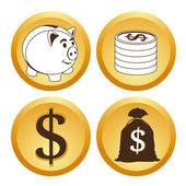 Dinero — Vector de stock