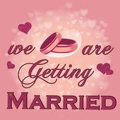 Matrimonio — Vettoriale Stock