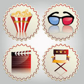 Cinema — Vector de stock