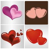 Corações — Vetor de Stock