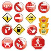 Traffic signals — Stock Vector