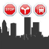 Transit signals — Stok Vektör
