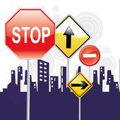 Transit signals — Stock Vector