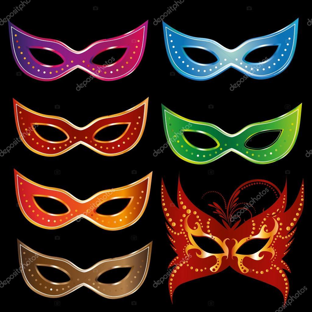 Шаблоны маскарадных масок 190