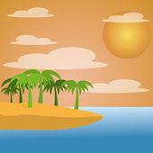 夏の背景 — ストックベクタ