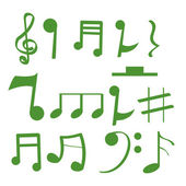 Musical notes — Stock Vector