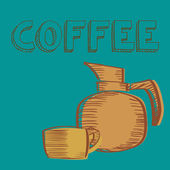 Káva — Stock vektor