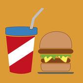 Fast food — 图库矢量图片