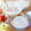 Ingredients for cooking cakes — Stock Photo