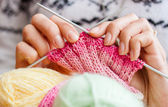 Knitting. Hobby — Foto Stock