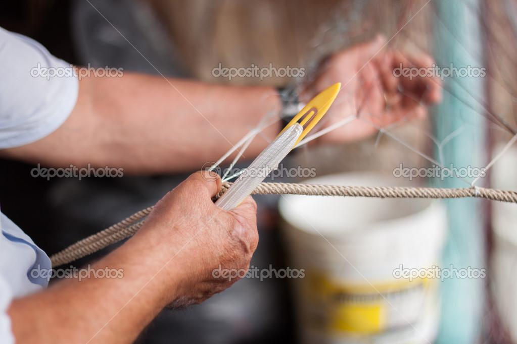 编织渔网 — 图库照片08apelavi#35394255