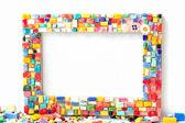 Mosaic handmade frame — Stockfoto
