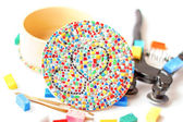 Mosaic handmade souvenir — Stock Photo
