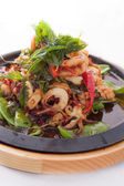 Seafood stir fried with Thai herb. — Stock Photo