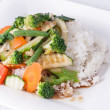 Stock Photo: Stir fried vegetable with rice.