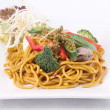 Hokkien noodles stir frief with Thai herb. — Stock Photo #30102209