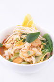 Tom yum noodle soup. Thai style spicy noodle soup. — Stock Photo