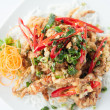 Deep fried soft shell crab. Thai style food. — Stock Photo