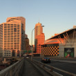 SYDNEY, NSW AUSTRALIA-MARCH 20 :  Panorama sunset at Darling harbour — Stock Photo