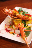 Lobster with ree curry sauce, Thai foods. — Stock Photo