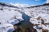 Perisher blue, snow mountain in AUSTRALIA — Stock Photo