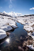 Perisher blue, snow mountain in AUSTRALIA — Stock Photo