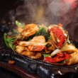 Stock Photo: Seafood sizzling
