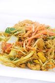 Singapore noodles stir fried. — Stock Photo
