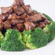 Stir fried beef with broccoli — Stock Photo #30443811