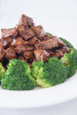 Stir fried beef with broccoli — Stock Photo