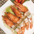 Deep fried prawn with Thai curry. — Stock Photo