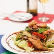 Thai stir fried seafood with Thai herb. — ストック写真