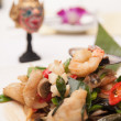 Thai stir fried seafood with Thai herb. — Photo