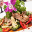 Stir fried grill duck with black pepper. — Stock Photo #30455115