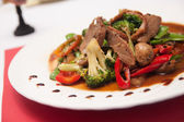 Stir fried grill duck with black pepper. — Stock Photo