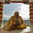 Old Laughing Buddha in Thailand — Stock Photo